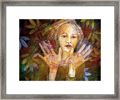 The Celtic Healer Framed Print by Sue Reed