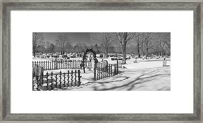 The Cemetery Framed Print by David Bishop
