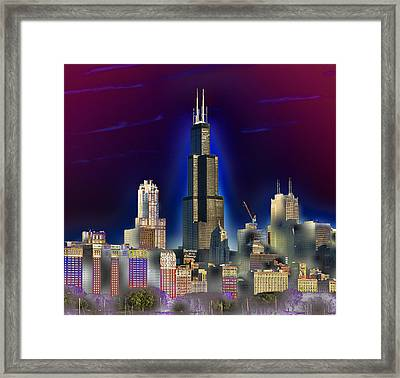 The Center Of Attention 3 Framed Print by Donald Schwartz