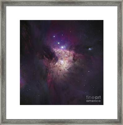 The Center Of The Orion Nebula The Framed Print