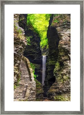 The Central Cascade Framed Print