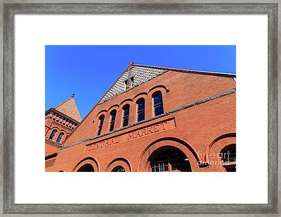 The Central Market Framed Print