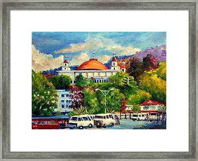 The Central Taxi Terminal In Jayapura Framed Print