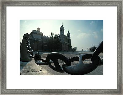 The Chain In Spain Framed Print by Carl Purcell