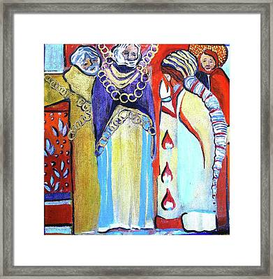 Framed Print featuring the painting The Chains That Bind Us To Christ by Mindy Newman