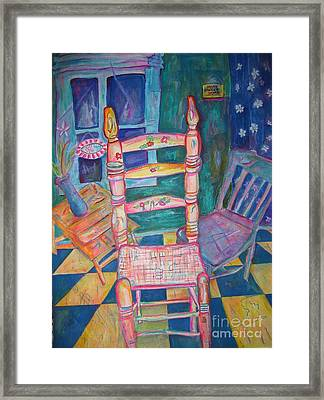 The Chair 2 Framed Print by Marlene Robbins