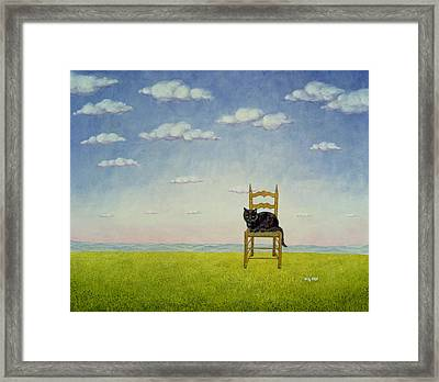The Chair Cat  Framed Print by Ditz
