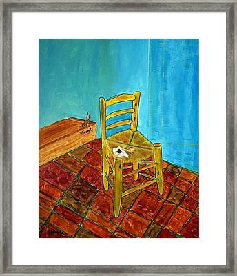 The Chair Framed Print by Joseph Frank Baraba