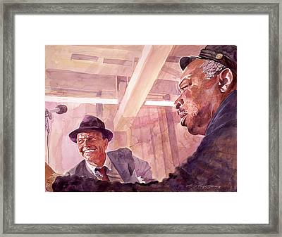 The Chairman Meets The Count Framed Print by David Lloyd Glover