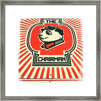 The Chairman Framed Print