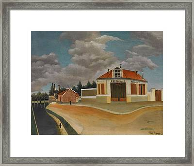 The Chairs Factory At Alfortville Framed Print