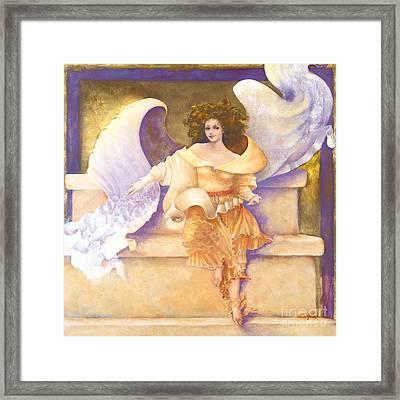 Chakra Angel Joy #7 Framed Print by Diane Givens
