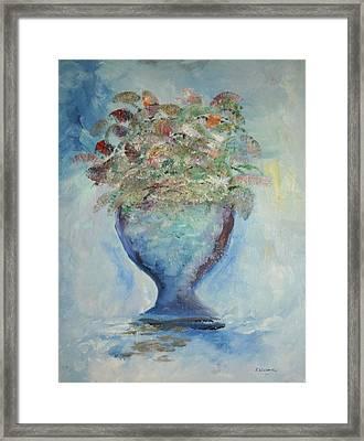 The Chalise Vase Framed Print by Edward Wolverton