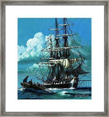 The Challenger Expedition Of The 1870s Framed Print by Wilf Hardy