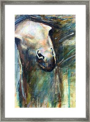 Framed Print featuring the painting The Chameleon  by Frances Marino
