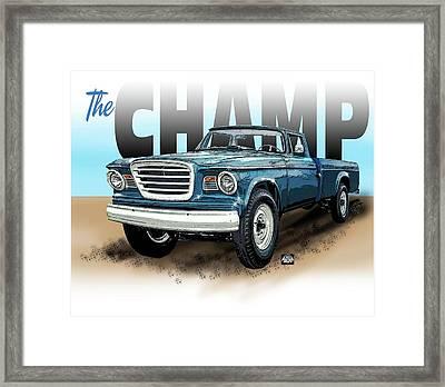 The Champ Framed Print