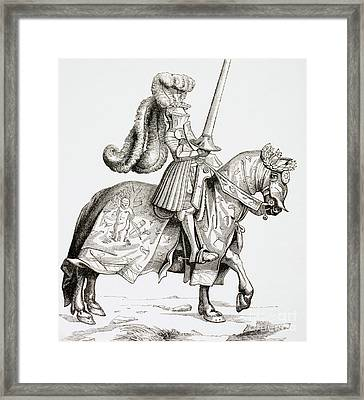 The Champion Of The Tournament Framed Print
