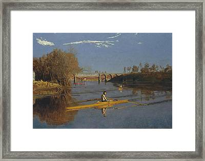 The Champion Single Sculls Framed Print by Thomas Eakins