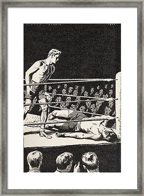 The Champion Was Lying Inert On His Framed Print