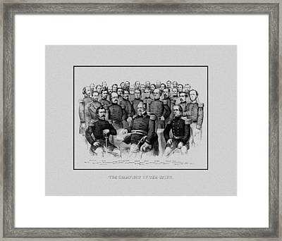 The Champions Of The Union -- Civil War Framed Print by War Is Hell Store