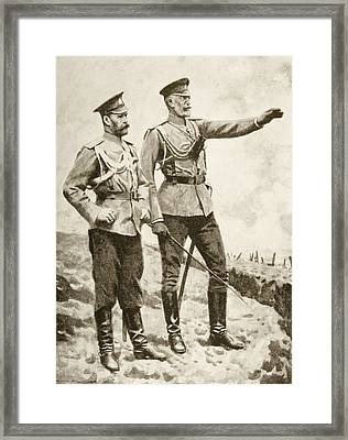 The Changes In The Russian Command Framed Print by Vintage Design Pics