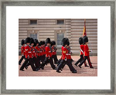 The Changing Of The Guards Framed Print by Inge Johnsson
