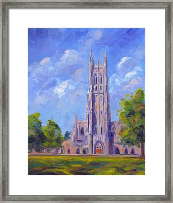 The Chapel At Duke University Framed Print by Jeff Pittman