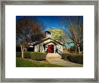The Chapel Of Memories - Temecula Framed Print