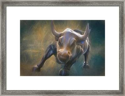 The Charging Bull Framed Print by Dan Sproul