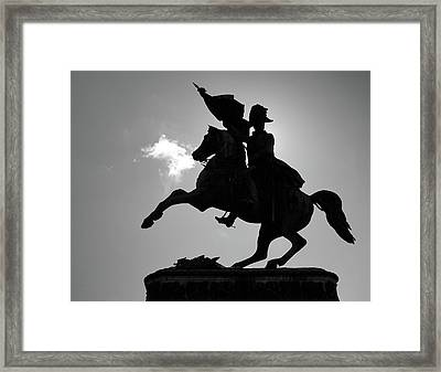 The Charging Horse Framed Print