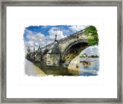 The Charles Bridge - Prague Framed Print