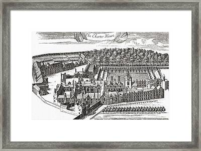 The Charterhouse, Charterhouse Square Framed Print by Vintage Design Pics