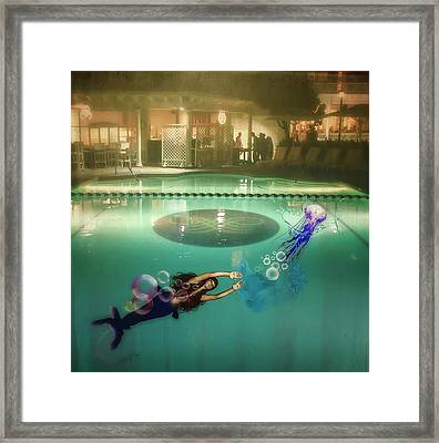 The Chase Framed Print by Ardiss Hutaff