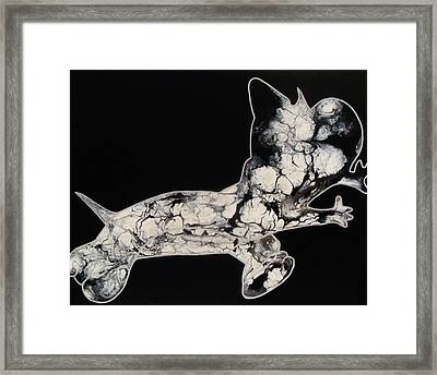 The Chase Bw Framed Print