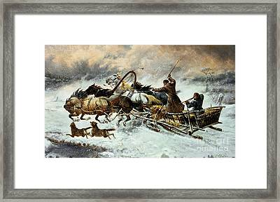 The Chase Framed Print by Constantine Stoiloff