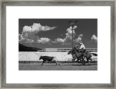 The Chase For Time Framed Print by Scott Sawyer