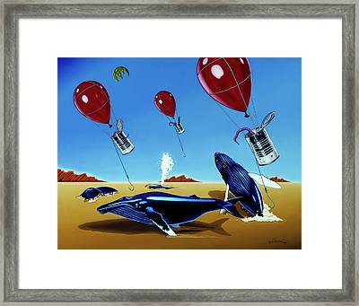 Framed Print featuring the painting The Chase by Paxton Mobley