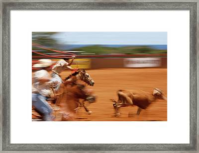 Framed Print featuring the photograph The Chase by Roger Mullenhour