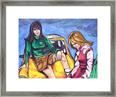 The Chat Framed Print by Sarah Crumpler