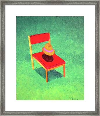 The Chat Framed Print by Thomas Blood
