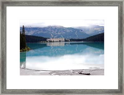 The Chateau At Lake Louise Framed Print