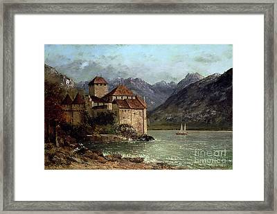 The Chateau De Chillon Framed Print by Gustave Courbet