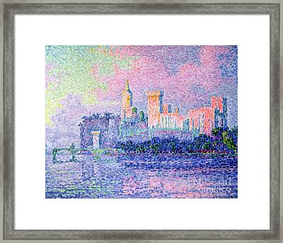 The Chateau Des Papes Framed Print by Paul Signac