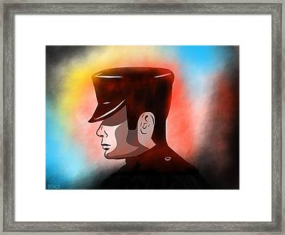 The Chauffeur Framed Print by Surj LA