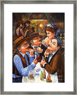 The Cheater Framed Print