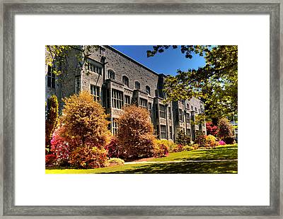 The Chem Building At Ubc Framed Print by Lawrence Christopher