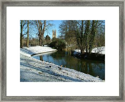 The Cherwell. Framed Print by Mike Lester