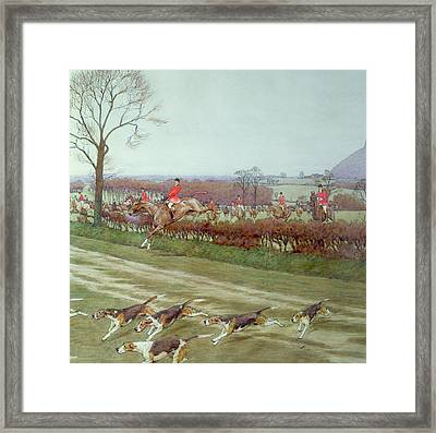 The Cheshire Away From Tattenhall Framed Print by Cecil Charles Windsor Aldin