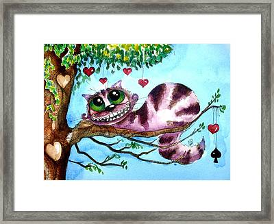 The Cheshire Cat Framed Print by Lucia Stewart