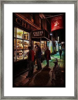 The Chess Forum Framed Print